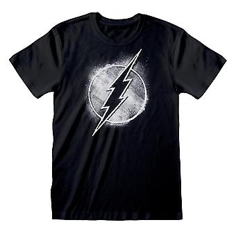 The Flash Womens/Ladies Mono Distressed Logo Boyfriend T-Shirt