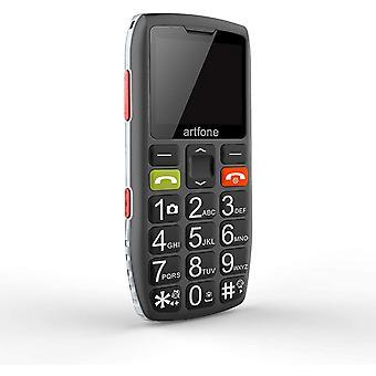 FengChun GSM Seniorenhandy ohne Vertrag | Dual SIM Handy mit SOS Notruftaste | Rentner Handy groß
