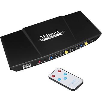 FengChun HDMI Switch Aluminium HDMI Switch 3 in 1 Out Unterstützt Audio 4K/UHD/HD/1080P 3D HDCP HDMI