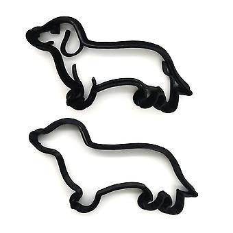 Taxhund 8 cm kakskärare 2 stycken