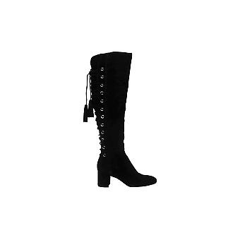 Enzo Angiolini Womens Phylis Leather Almond Toe Over Knee Fashion Boots