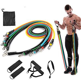 11pcs/set Fitness Resistance Bands Rubber Elastic