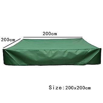 Courtyard Square Dustproof Green Sandpit Cover Waterproof Sunshade Small Bath Cover