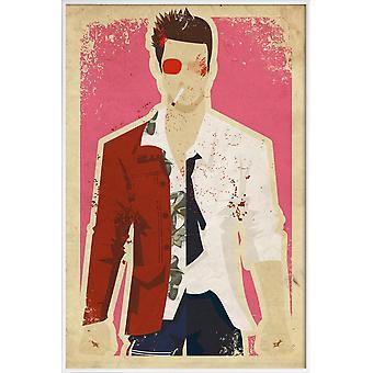 JUNIQE Print -  Fight Club - Filme Poster in Bunt