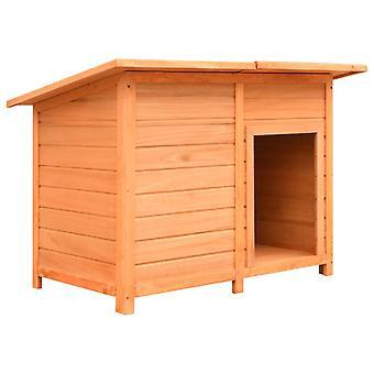 vidaXL doghouse mänty & kuusi puu 120x77x86 cm