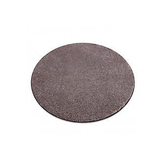 Teppich, rund SAN MIGUEL braun 41 schlicht, flach, einfarbig