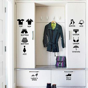 Regenboghorn Clothing Icon Symbol Wall Decal Sticker
