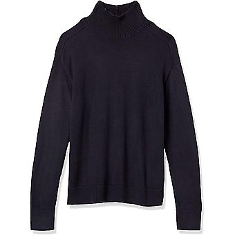 Brand - Lark & Ro Women's Premium Mid-Weight Blend Long Sleeve Turtleneck Relaxed Fit Sweater