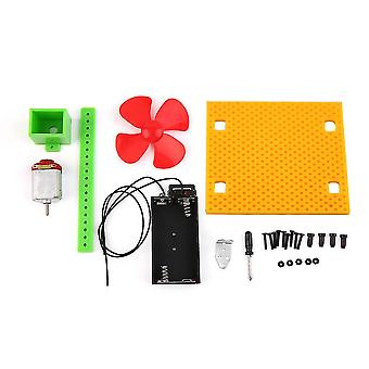 Diy batería alimentado por ventilador de verano cooler kit de refrigeración niños toy educativo