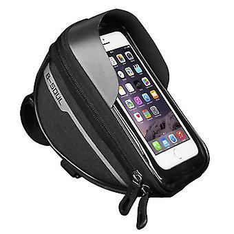 Fahrrad wasserdichte Telefontasche, Touchscreen-Bedienung, Kopfhörer Brieftasche Aufbewahrungstasche (Schwarz)