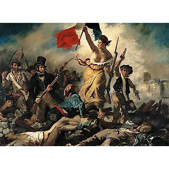Clementoni Louvre Delacroix Liberty guida il puzzle di alta qualità del popolo (1000 pezzi)