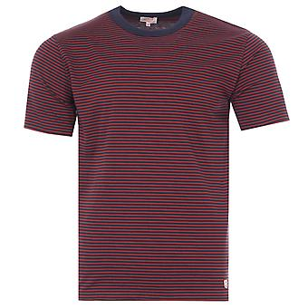 Armor Lux Heritage Stripe Organic Cotton T-Shirt - Red