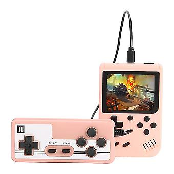 800 Games Mini Retro Video Console Handheld Game Players(Pink)