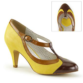Pin Women's Shoes Up Yellow Multi Faux Leather