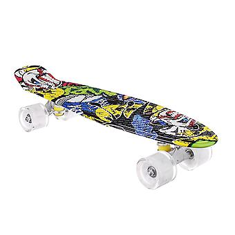 """22""""ジュニアユーススケートボードミニスタンダードスケートボード高リバウンドで点滅するpuホイールを導いた"""