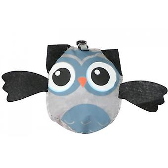 Animal Shopping Bag Portable Cute Owl Folding Storage Bag(Grey)