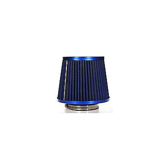 Universal Carbon Finish Car Air Filter Mesh Cone 76mm BLUE COLOR