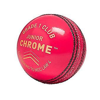 Gunn & Moore GM Cricket Chrome Grade 1 Club Ball Engelsk Skinn - Junior Størrelse