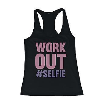 Träna #Selfie kvinnors roliga arbete ut Tank Top ärmlös Gym kläder