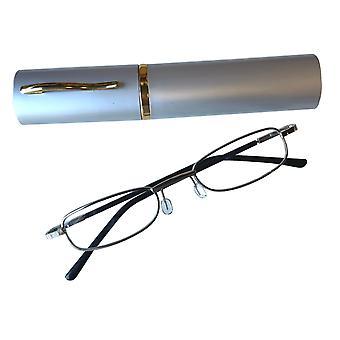 Duga Läsglasögon 1.0 med fodral silver