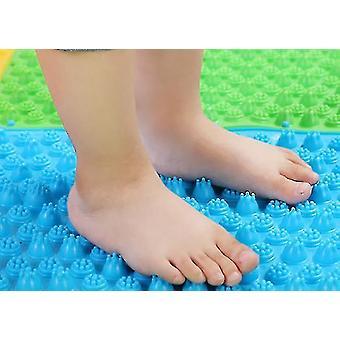 Fot massagematta akupressurmatta, barn utomhus spelmatta 2st (blå)