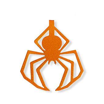 Girlang för halloween med glittriga spindlar i orange