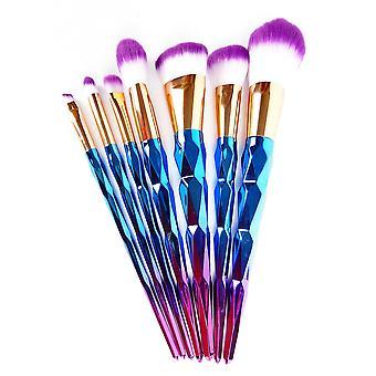 Hyfive diamond pink make up brush set powder foundation applicator contour 7pc set