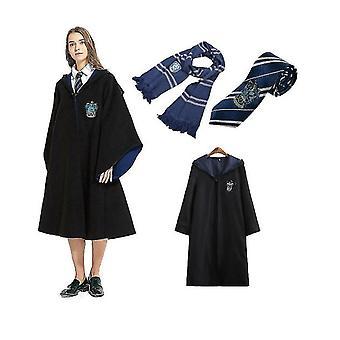 Felnőtt varázsló Harry Potter Fancy Ruha köpeny jelmez Cosplay 3 db-os készlet