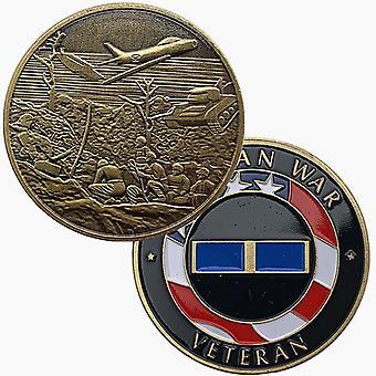 American Tank Fighter Green Bronze Pièce commémorative Pièce de collection Peinte Pièce commémorative Pièce gaufrée Médaille commémorative