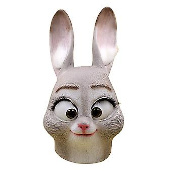Halloween Party Mask Latex Mask Stage Performance Props Judy Rabbit Mask Cos Dress Up