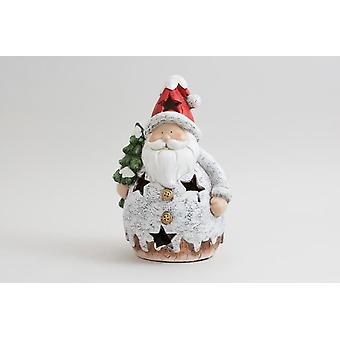 Santa Tealight Holder Christmas Decorative Seasonal Ornament Gift