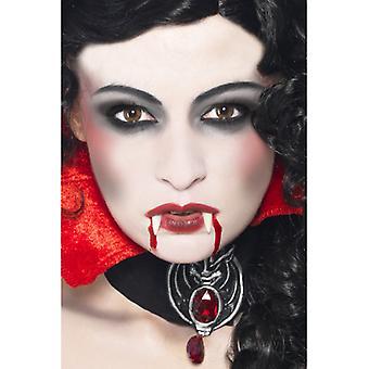 Maquiagem de vampiro Kit com presas esponja tez e sangue no tubo