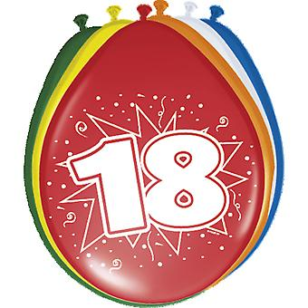 Colorful balloons balloon number 18 birthday 8 St. decoration balloons party