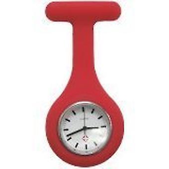 ブランドの新しいファッション シリコーン看護師ブローチ チュニック懐中時計 Boolavard TM によって。(10-赤)