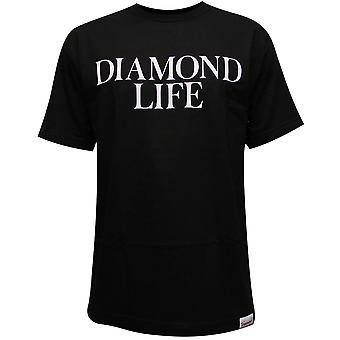 Co de fornecimento de diamante diamante vida t-shirt preto