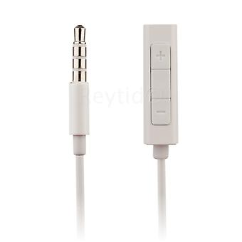 REYTID Headphone Adapter Extension Cable w/ Remote & Volume Control Compatible with iPod Shuffle 4th 5th Gen & Nano 4th 5th 6th 7th 8th Generation Classic Touch