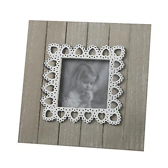 Lace Heart Photo Frame