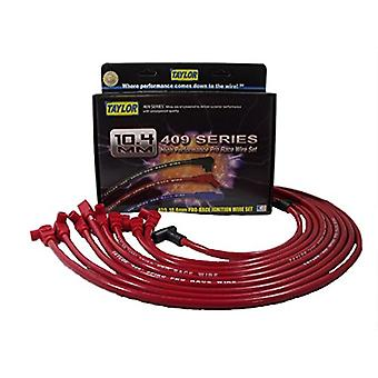 Taylor Cable 79230 Red 10.4mm Custom Race-Fit Spiro Pro Race Spark Plug Wire Set
