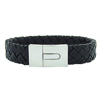 Christian Leather Black White Bracelet Clasp