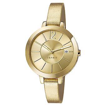 ESPRIT dameshorloge armband horloge Amelia leer goud ES107242003