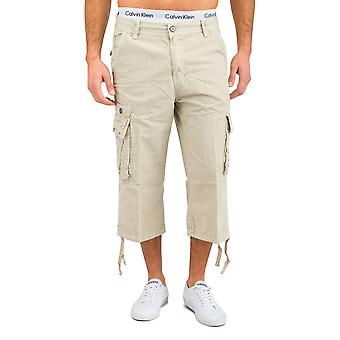Mannen Bermuda Shorts Cargoshorts Cargo zomer broek wit zwart beige katoen