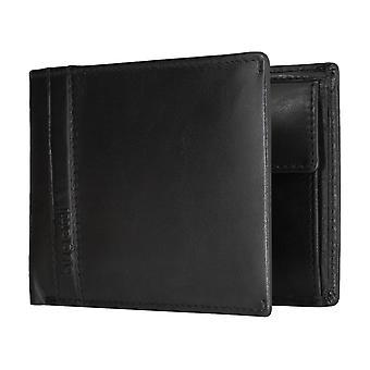 Bugatti Trenta mäns uppenbara väska handväska plånbok purse black 5180