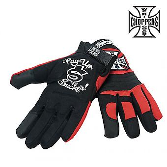 West Coast choppers mens gloves of WCC riding gloves
