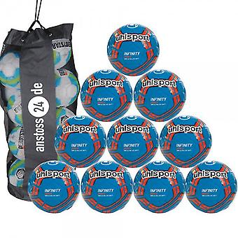 10 x Uhlsport youth ball INFINITY 290 ULTRA LITE SOFT incl. ball bag