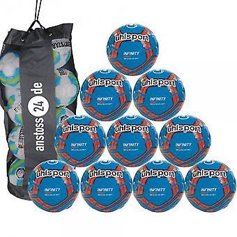 10 x Uhlsport młodzieży piłka INFINITY 290 ULTRA LITE miękkie włącznie z torba na piłki