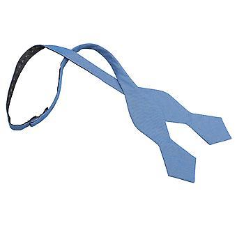 Parisisk blå chambrey bomuld pegede selvstændig slips Butterfly