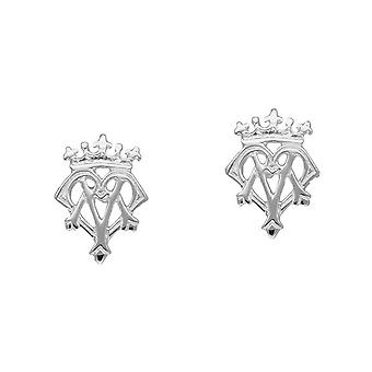 Sterling Silver Traditional Luckenbooth 'Love and Loyalty' Design Pair of Earrings - E177