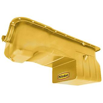 Milodon 31125 Steel, Gold Zinc Plated Street and Strip Oil Pan for Ford 302