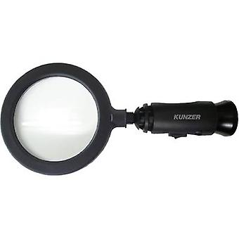 Kunzer 7LL01 Handheld magnifier incl. LED lighting Lens size: (Ø) 90 mm Black