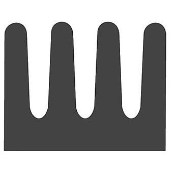 פישר אלקטרונית SMD A 8 SA SMD החום כיור 87 K/W (L x W x) 8 x 6.3 x 4.8 mm